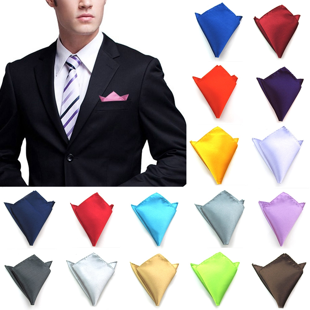Hankie Pocket Square Handkerchief Soft Gold with Silver Glitter Square