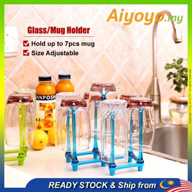 Glass Rack Glass Holder Mug Rack Mug Holder Cup Holder Cup Rack Rak Cawan Pemegang CawanDrying Rack Glass Hanger Mug Han