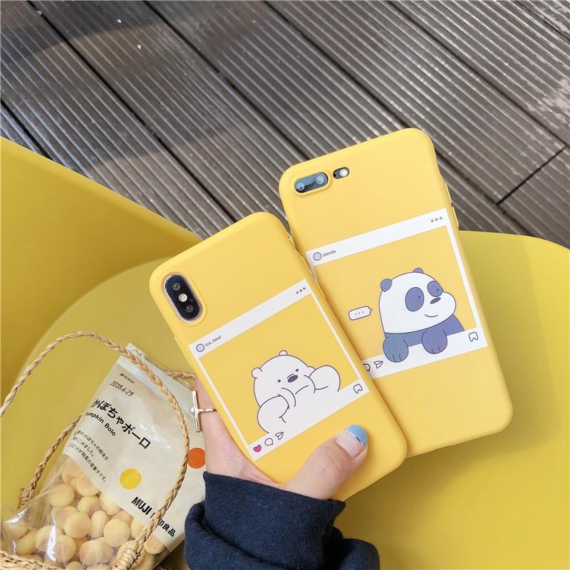 Oppo A3s A83 A57 A73 A37 F5 F1s F9 F7 We Bare Bears Soft TPU Case Cover Couple