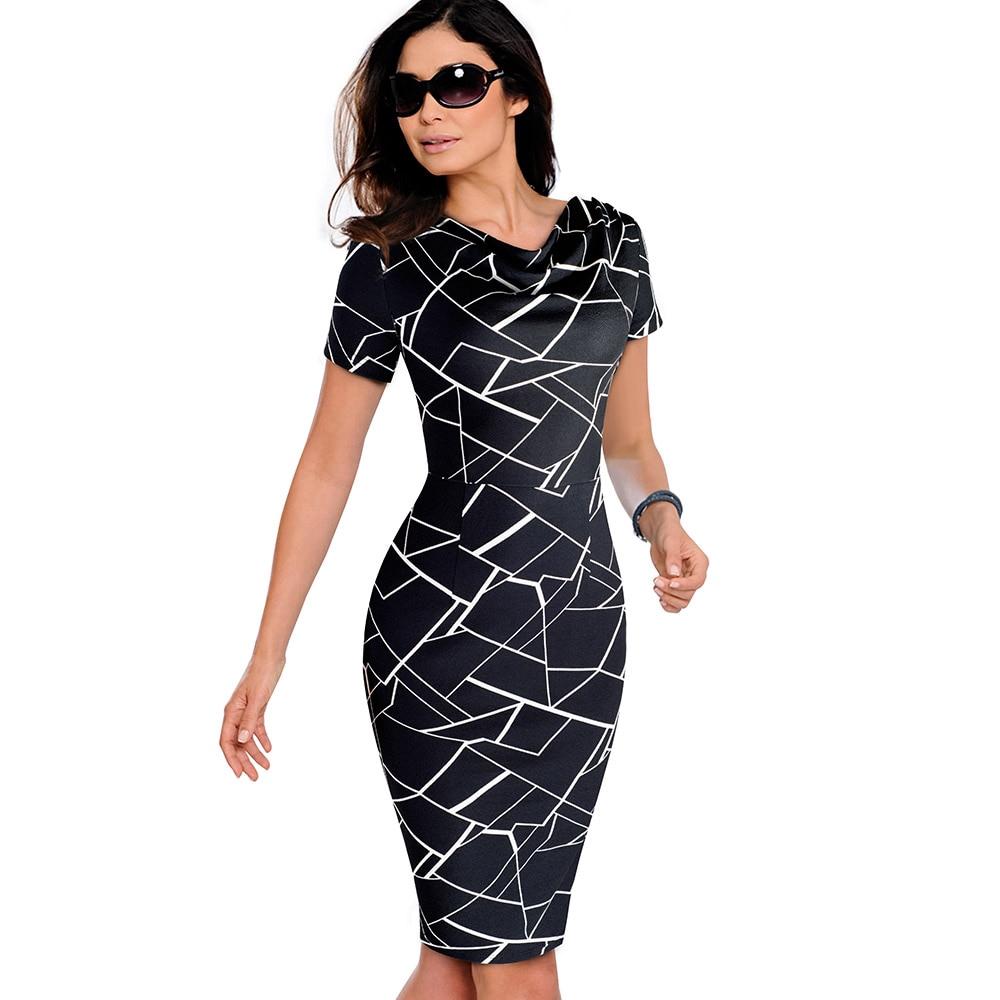 d362cd30fe8a7 Women Vintage Wear to Work Elegant vestidos Business Party Bodycon ...