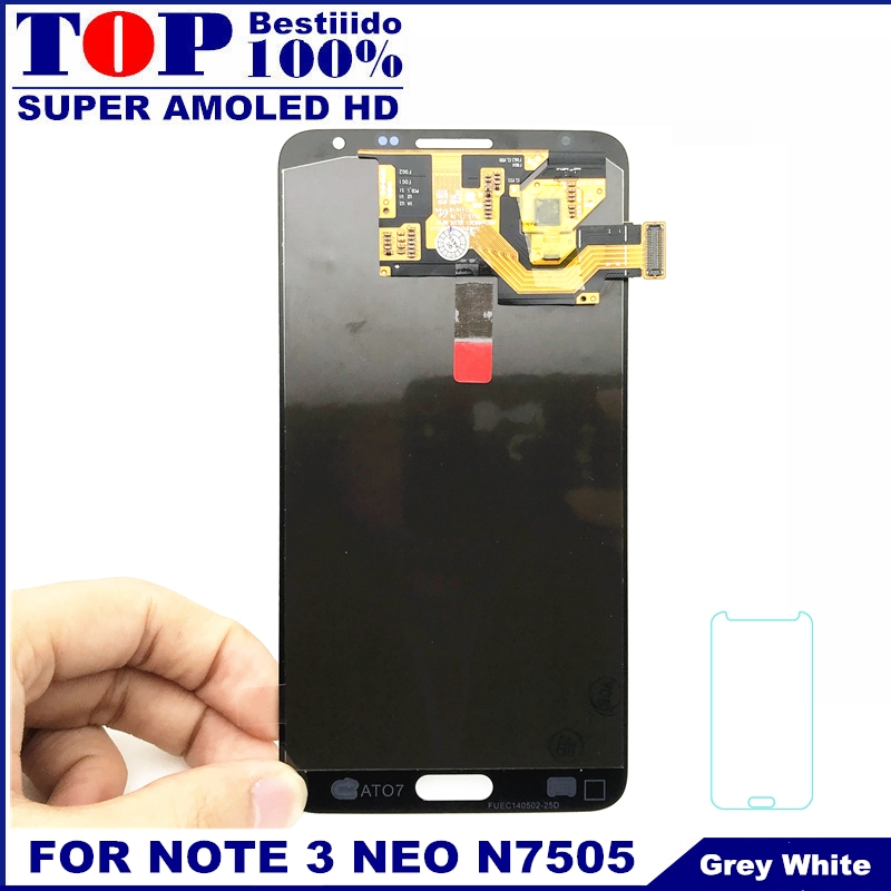 Full Digitizer LCD Replacement For Samsung Galaxy Note 3 Note3 Neo Mini  N750 N7502 N7505 Display Touch Screen Assembly