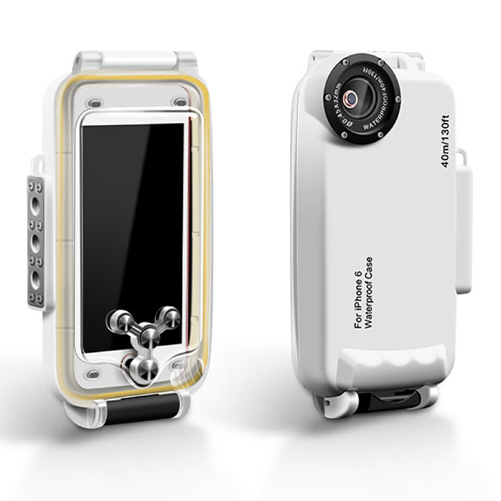 new style 962aa 5aebd MEIKON IPX8 40m/130ft Underwater Waterproof Diving Case for iPhone 6s 6 4.7  inch - White