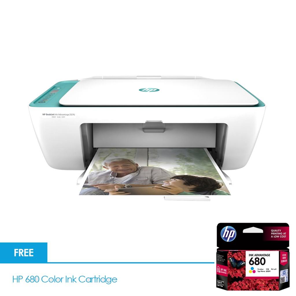 Hp Deskjet 2676 Aio Colour Printer Scancopyprint With 680 Tinta Black Ink Shopee Malaysia