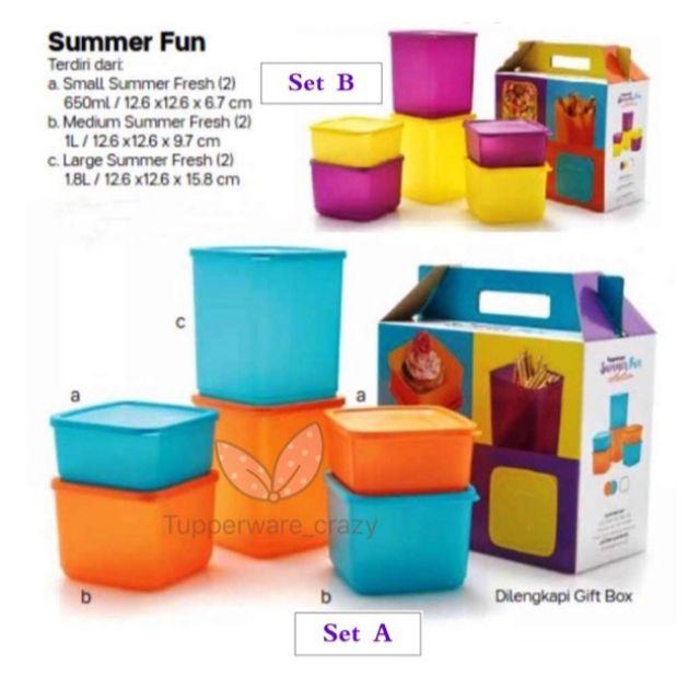 🔥 Tupperware Summer Fun (3 OR 6pcs Set)🔥