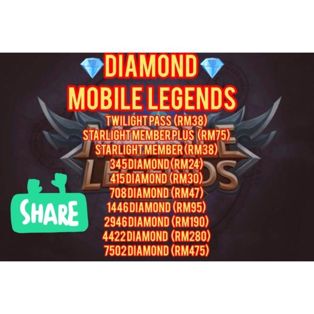 DIAMOND MOBILE LEGENDS 0128759550