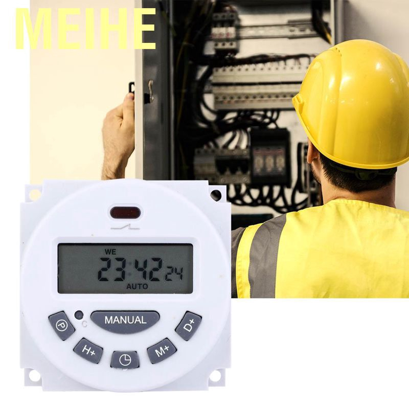 ⭐ 24V LCD Digital Programmable Control Power Timer Switch Relay With Crimps ⭐ UK