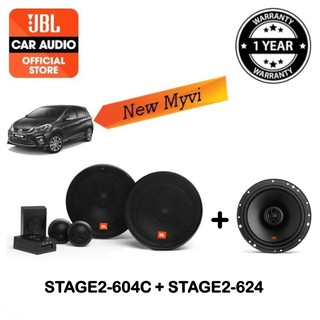Jbl Stage2 604c 2 Way Component Speaker Jbl Stage2 624 2 Way Coaxial Speaker New Myvi Speaker Package Shopee Malaysia