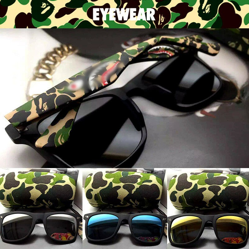 New Bape Sunglasses Men/'s Camo shark Outdoor Drving Eyewear Glasses Gifts