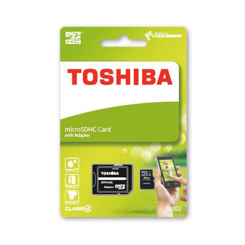 Toshiba M102 16GB MicroSDHC High Speed Memory Card Class 4with Adapter