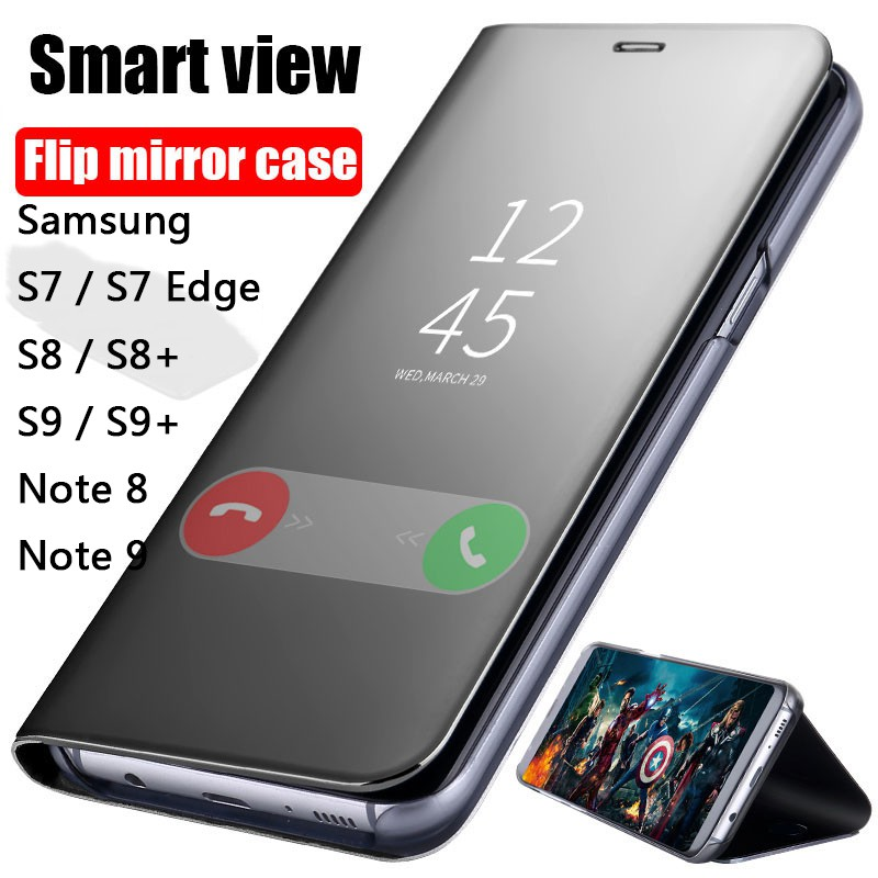 Samsung Galaxy S7/S7 Edge/S8/S9 Plus/Note 8/Note 9 Smart Flip Case Phone  Cover