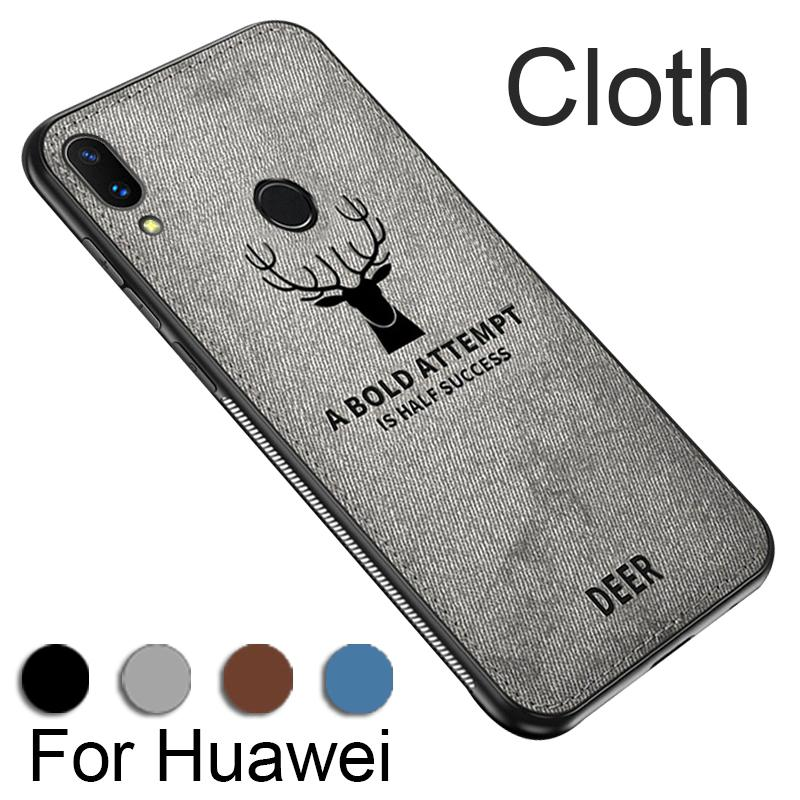 Huawei P20 P20Pro P20Lite Case Embossed Deer Fabric Cover Fashion Gift E&S