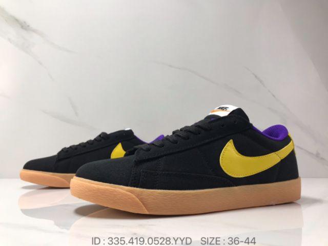 Nike Blazer Men Low Top Casual Shoes Healthy Sports Shoes Lifestyle Fashion Premium - Black/Yellow