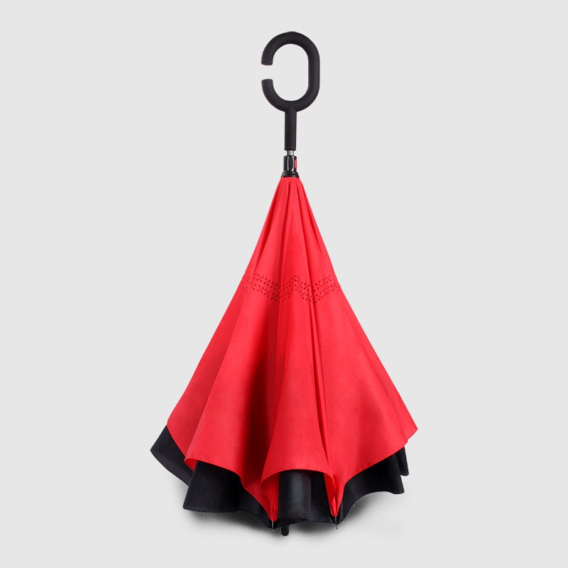 Manually High Quality Inverted Reverse Umbrella Double Layer C Hook