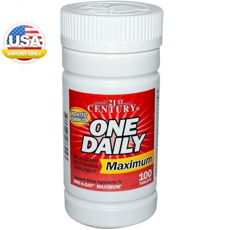 พร้อมส่ง,วิตามินรวม _One Daily, Maximum, Multivitamin Multi mineral,100 Ta
