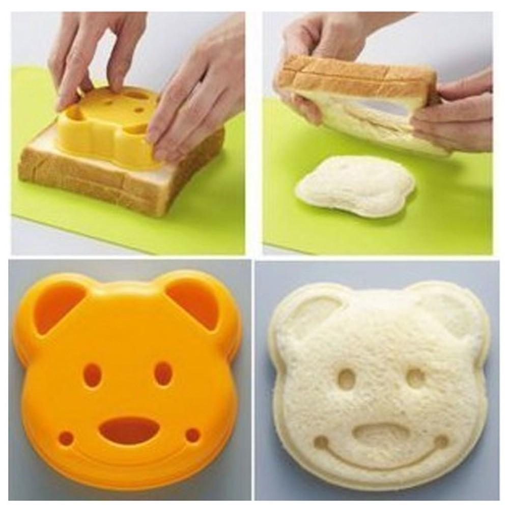 Mould LunchTime Increase Children Shape School Bear Sandwich Mold Teddy