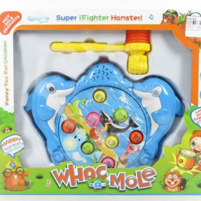Hamster Animals Musical Fighting Game Toy with 8 hamster and hammer