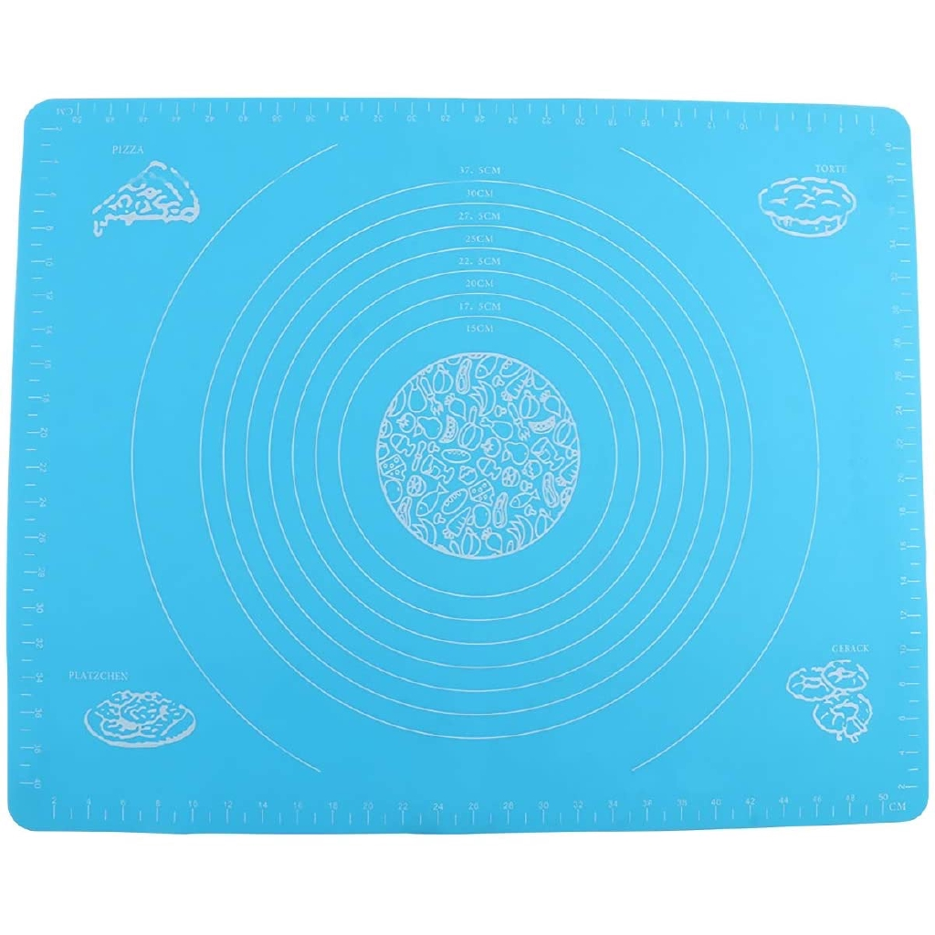 Heat Resistance Table Placemat Pad Pastry Board Coffee Silicone Baking Mat for Pastry Rolling with Measurements Reusable Non-Stick Easy Clean Silicone Baking Mat for Cooking Enthusiasts