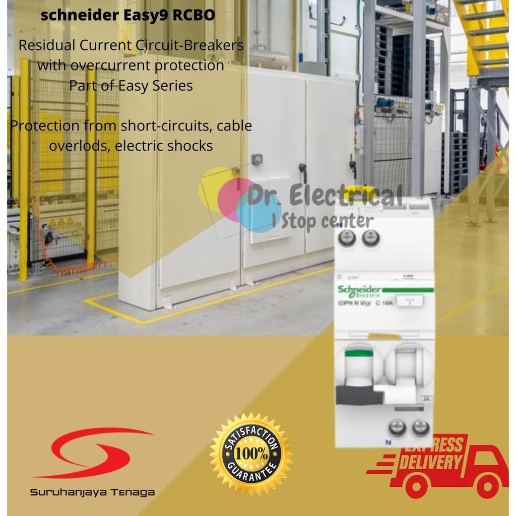 Schneider/ ABB RCBO  (RCBO) Acti9 iDPN N Vigi - RCBO - 1P+N - 16A - C Curve - 6000A