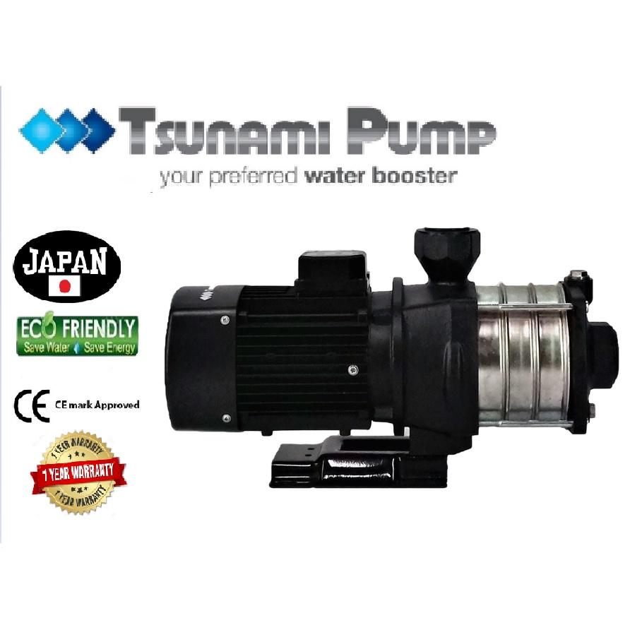 Tsunami CMH8-40T- THREE PHASE Horizontal Multi-Stage WaterPressure Pump BoosterSuitable Hotel & Motel【1 Year Warranty】