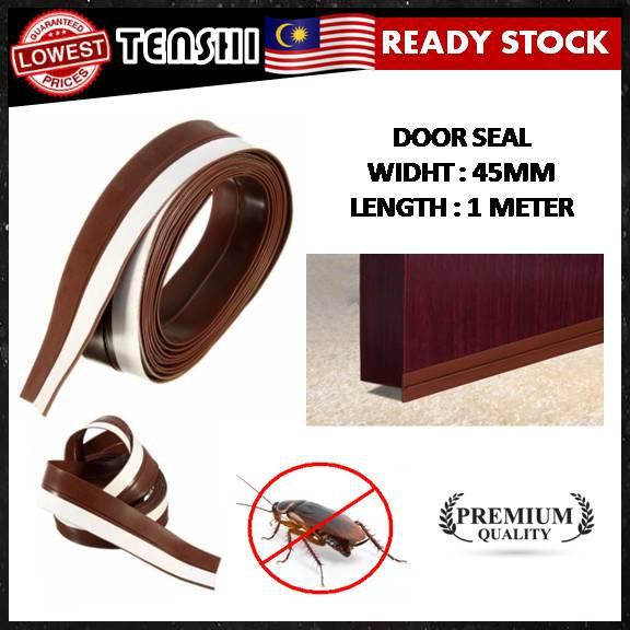 Door Block Seal 45mm (1 METER) Silicone Rubber Sealing Sticker Adhesive