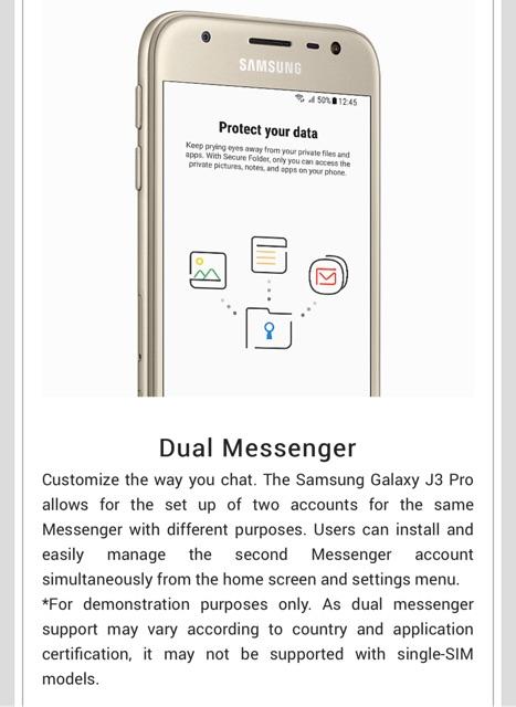 Samsung J3 Settings Menu