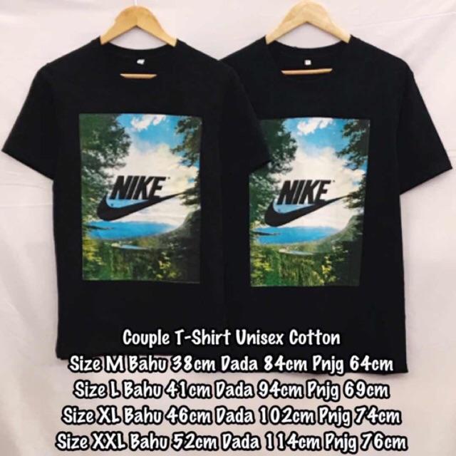 Nike Unisex Cotton Tshirt Malaysia Couple Shirt Shopee Z0CF08wqx