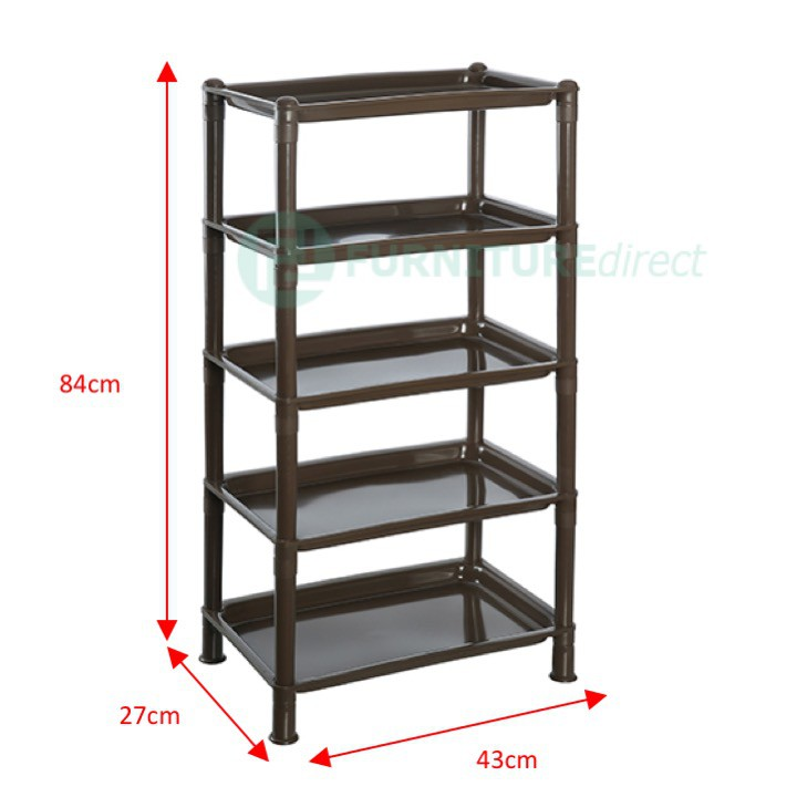 513 model 5 Tier and 3 tier  Plastic Storage Rack in Black color and cream color