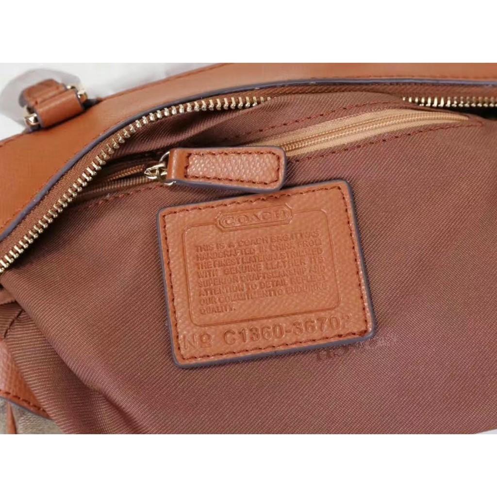 9227fc8ded Premium Quality) COACH Premier Jacquard Bennett Leather Sling/Tote ...