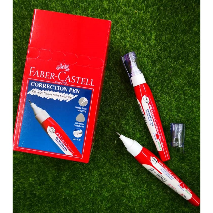 Faber-Castell Correction Pen 8ml / Faber Castell Liquid Paper / Correction Fluid 169312 (1pc)