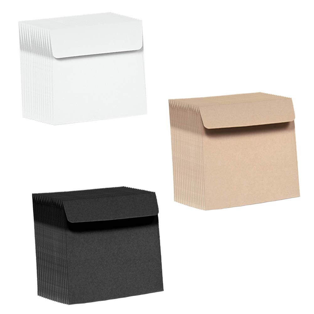 Kraft Paper Envelopes 120pcs Invitation Envelopes 3 Colored Envelopes Bulk For Thank You Notes Valentine S Day