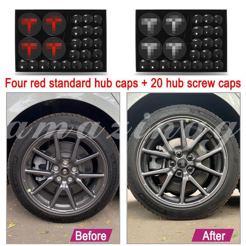 Tires Parts 25pcs Aero Wheel Center Cap Lug Nut Covers Kit Tire