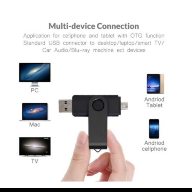 Ready Stock 16GB OTG Pen Drive USB 2.0 Smartphone Pendrive Storage Devices