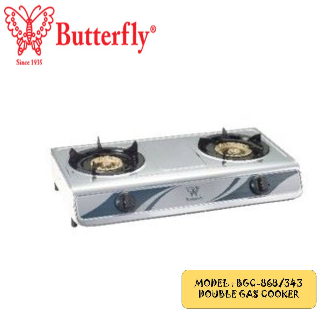 Butterfly Double gas stove BGC-868/343