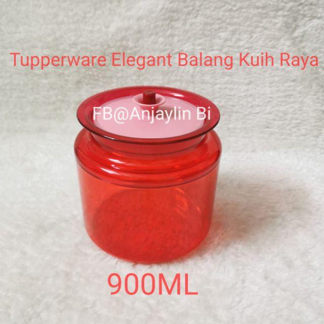 ❤️SALE❤️Tupperware Elegant Red Balang Kuih Raya