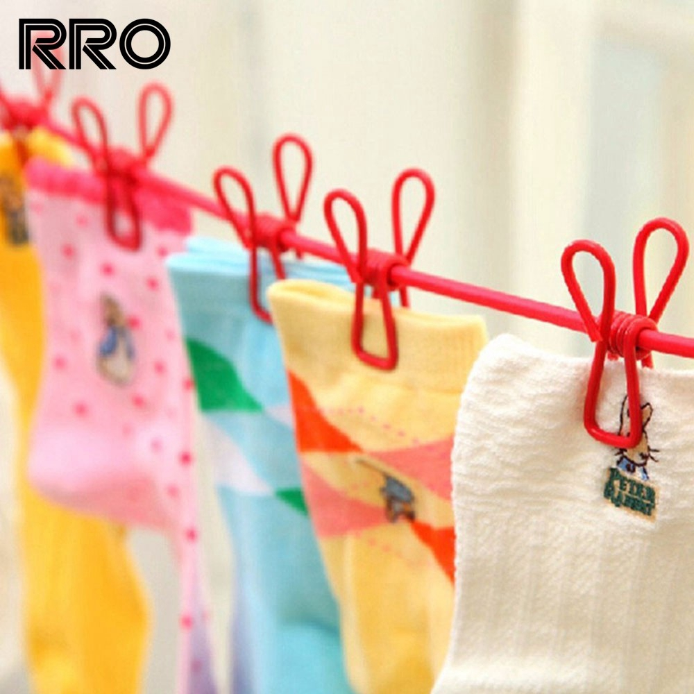RRO Portable Multifunctional Drying Rack Clips Cloth Hanger