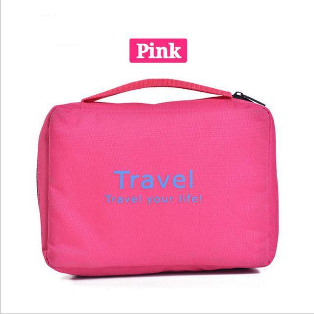 [ READY STOCK ]  Korean Style Travel Modern Wash Bag Universal Makeup Large Volume Hanging Waterproof Jualan Murah Travel