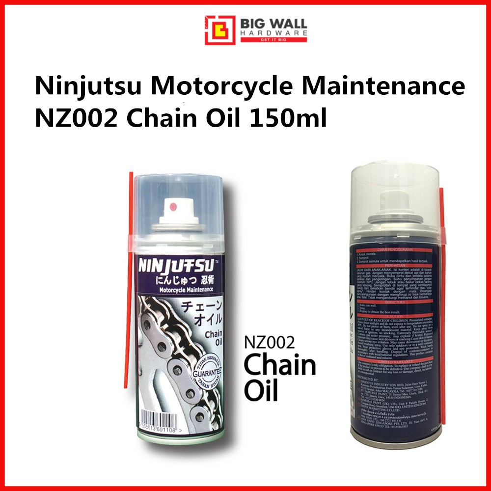 Samurai Ninjutsu Motorcycle Maintenance NZ002 Chain Oil 150ml *Minyak Rantai