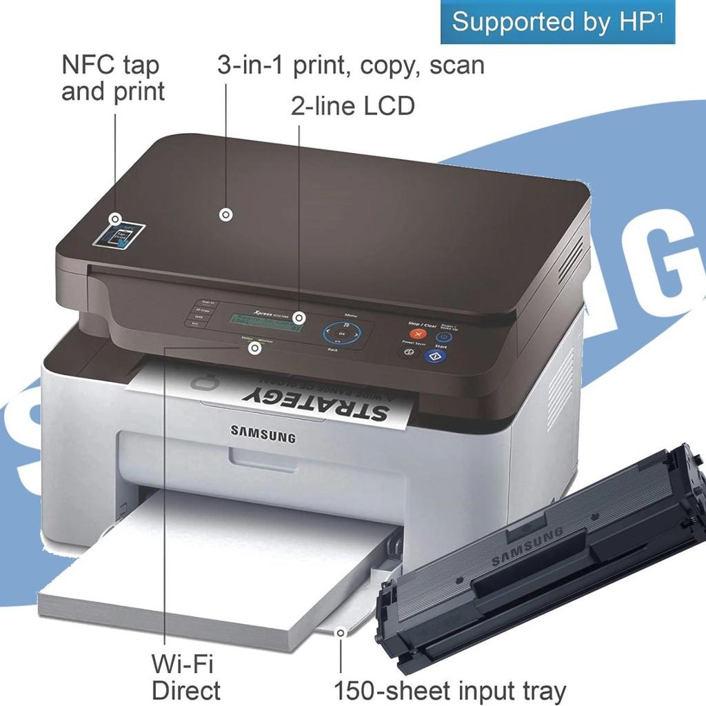 Samsung Xpress SL-M2070W Laser Multifunction 3-IN-1 Mono Laserjet Printer  [Online Exclusive Printer] With One Toner