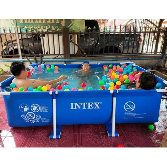 สระน้ำ Intex สระเฟรมพูลสี่เหลี่ย
