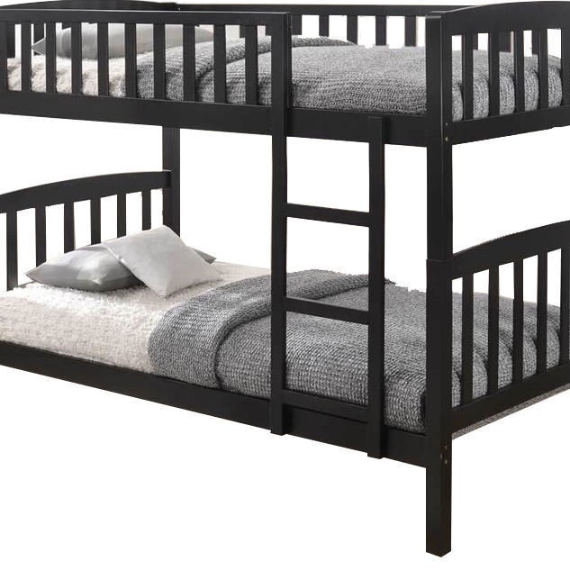 BOSTON FULL SOLID DOUBLE DECKER BUNK BED- CAPPUCINO 989 BUNK BED WHITE COLOR SOLID WOOD kayu katil single double bed