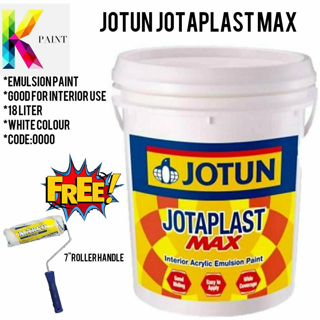 Jotun Jotaplast Max 18l 0000 White Cat Kapur Water Based Shopee Malaysia