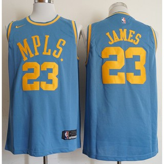 new styles ad2dc 65792 Original Nike 2019 Los Angeles Lakers LeBron James #23 white ...