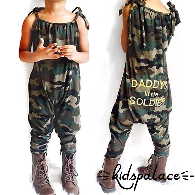 Summer Newborn Kid Baby Boy Clothes Sleeveless Camouflage Romper Jumpsuit Pajama