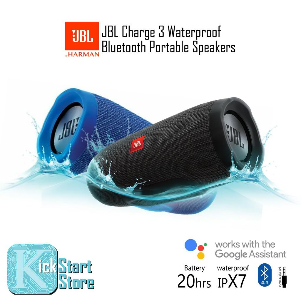 JBL Charge 3 Waterproof Bluetooth Potable Speaker