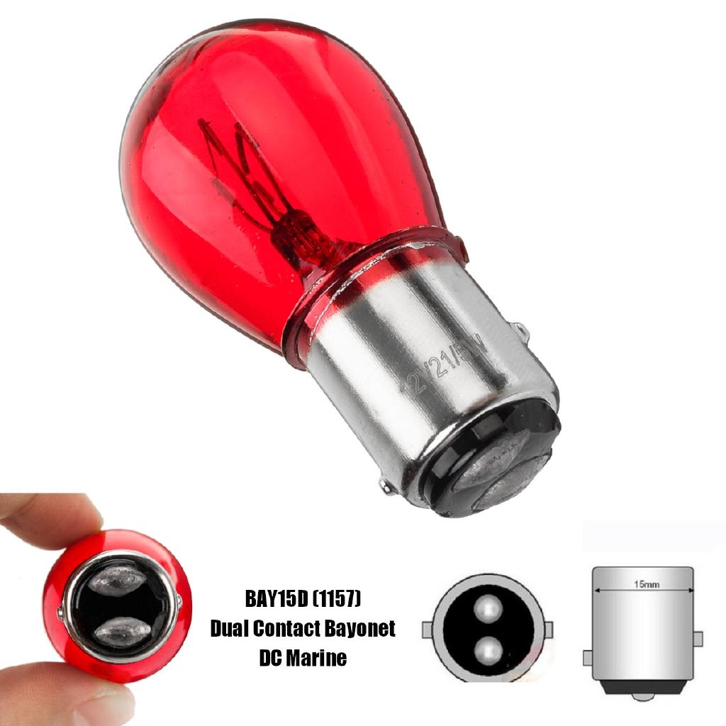 10 x 380 RED STOP BRAKE TAIL LIGHT CAR BULBS 12V 21//5W TWIN FILAMENT