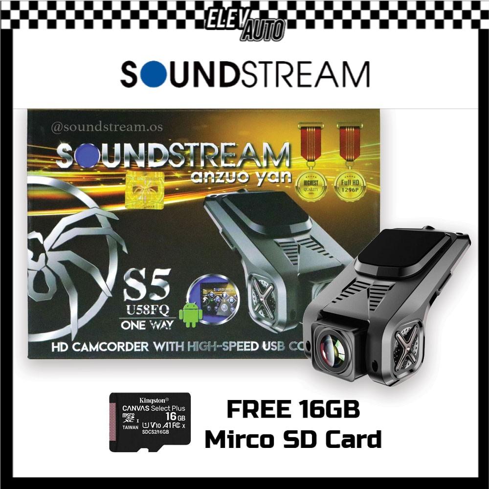 Soundstream USB DVR Car Camera HD One Way Driving Video Recorder S5