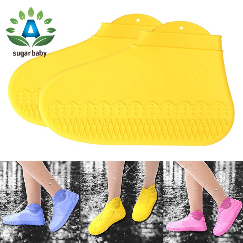 Reusable Shoe Covers Pair of Waterproof Silicone Rain Shoe Protectors Overshoes