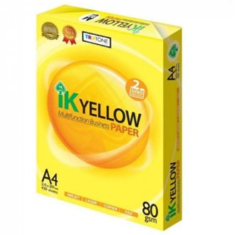A4 Paper 70gsm / 80gsm  IK Yellow Multifunction Business Paper 450s / 500s