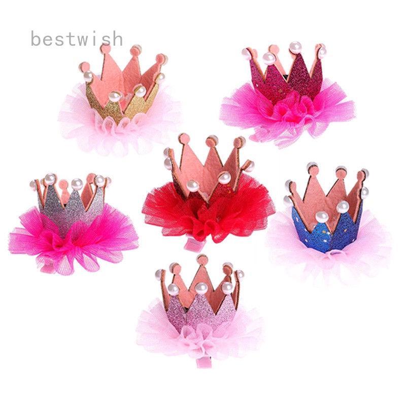 3ec9dce259 Crown Princess Hair Clip Cute Baby Girls Lace Pearl Shiny Star Hair  Accessories | Shopee Malaysia