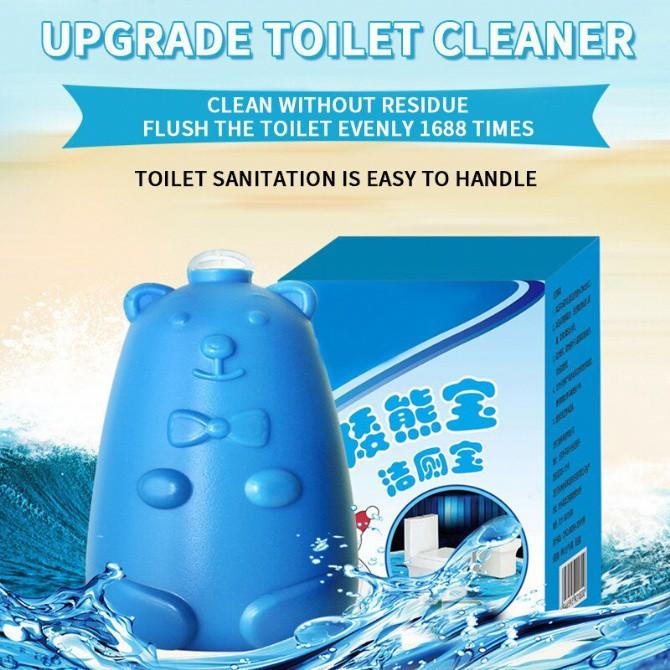 LKB Blue Bear Toilet Bowl Flush Cleaner Foam Toilet Bowl Cleaner Pembersih Tandas Beruang Pencuci Tandas Magic Flush Aro